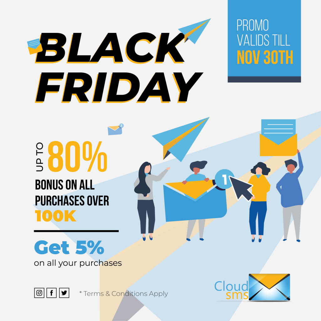 CloudSMS Black Friday